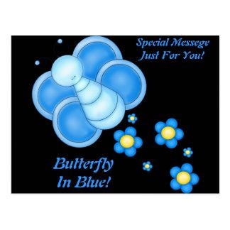 Butterfly In Blue! Postcard