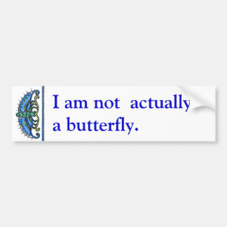 Butterfly in Blues and Greens Bumper Sticker