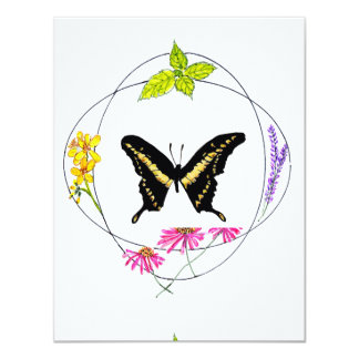 Butterfly in Circles Card