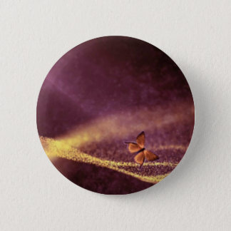 Butterfly In Dust Particles Pinback Button