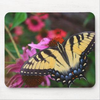 Butterfly in Flower Garden Mouse Pad