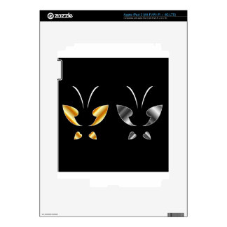 Butterfly in gold and silver colors iPad 3 decals