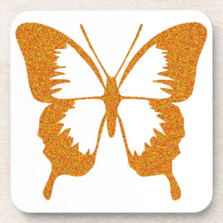 Butterfly in Gold Metallic Beverage Coaster
