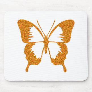 Butterfly in Gold Metallic Mousepad