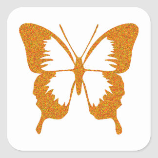 Butterfly in Gold Metallic Stickers