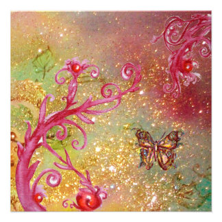 BUTTERFLY IN GOLD SPARKLES 2 Bırthday Party 1 Invite