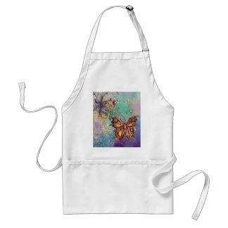 BUTTERFLY IN GOLD SPARKLES ADULT APRON