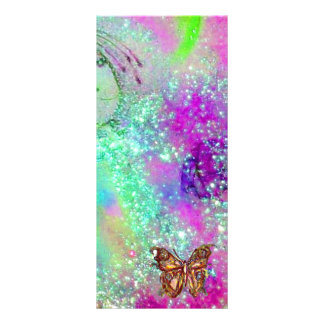 BUTTERFLY IN GOLD SPARKLES RACK CARD