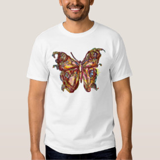 BUTTERFLY IN GOLD SPARKLES SHIRT