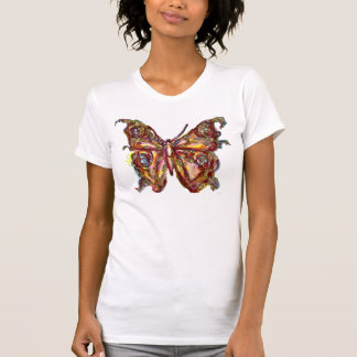 BUTTERFLY IN GOLD SPARKLES TEE SHIRT