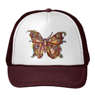 BUTTERFLY IN GOLD SPARKLES TRUCKER HAT