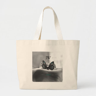 Butterfly in Hand Large Tote Bag