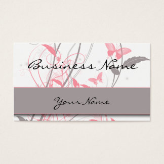 Butterfly in Honeysuckle Pink Business Card