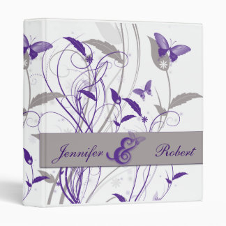 Butterfly in Lilac and Purple and Grey Anniversary Binder