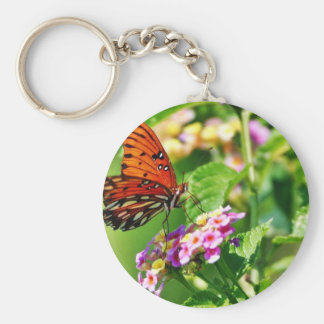 Butterfly In Louisiana Basic Round Button Keychain