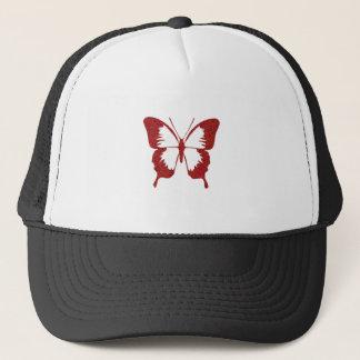 Butterfly in Metallic Red Trucker Hat
