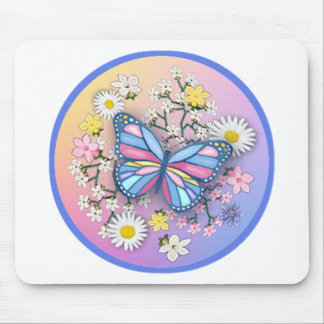 Butterfly in Pastels Mouse Pad