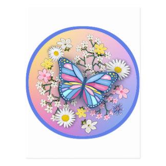 Butterfly in Pastels Postcard