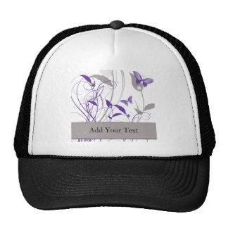 Butterfly in Purple and Grey Trucker Hat