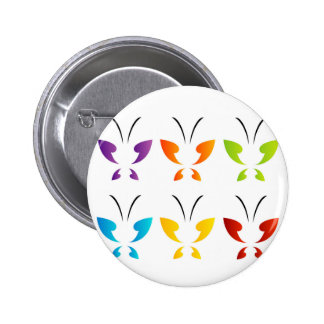 Butterfly in rainbow colors 2 inch round button