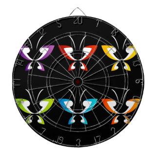 Butterfly in rainbow colors dartboards