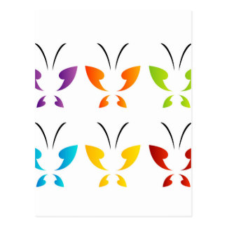 Butterfly in rainbow colors postcard