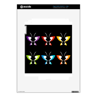 Butterfly in rainbow colors decal for iPad 2