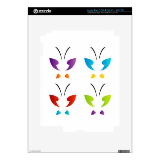 Butterfly in rainbow colors iPad 3 skins