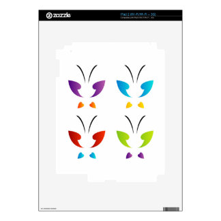 Butterfly in rainbow colors iPad 2 decals