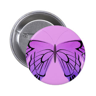 Butterfly in Shades of Purple 2 Inch Round Button