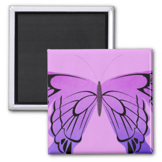 Butterfly in Shades of Purple Refrigerator Magnets