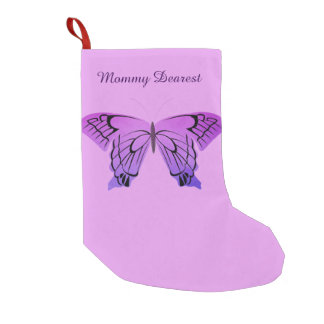 Butterfly in Shades of Purple Small Christmas Stocking