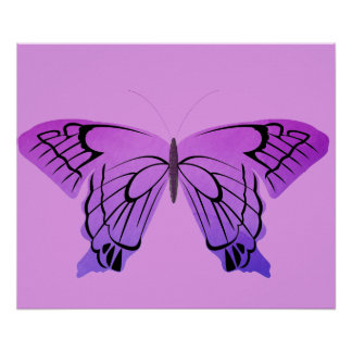 Butterfly in Shades of Purple Posters
