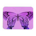Butterfly in Shades of Purple Rectangular Photo Magnet