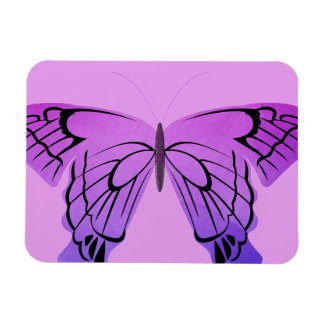 Butterfly in Shades of Purple Rectangle Magnet