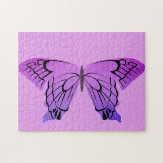 Butterfly in Shades of Purple Puzzle