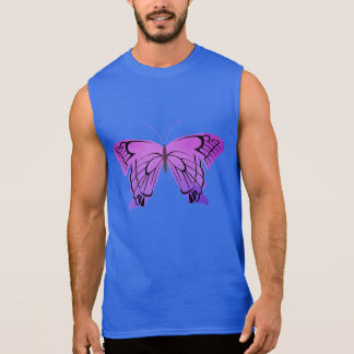 Butterfly in Shades of Purple Sleeveless T-shirt