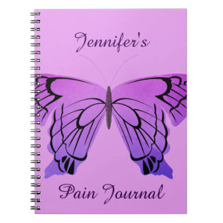 Butterfly in Shades of Purple Spiral Notebook