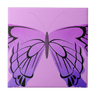 Butterfly in Shades of Purple Small Square Tile