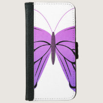 Butterfly in Shades of Purple Wallet Phone Case For iPhone 6/6s