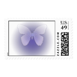 Butterfly in soft purple postage