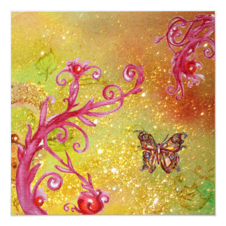 BUTTERFLY IN SPARKLES 2 , Elegant Wedding Party Card