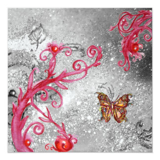 BUTTERFLY IN SPARKLES 2 ,Elegant Wedding Party Card