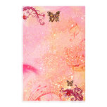 BUTTERFLY IN SPARKLES 2, red pink Customized Stationery