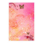 BUTTERFLY IN SPARKLES 2, red pink Custom Stationery