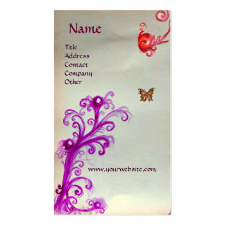 BUTTERFLY IN SPARKLES 3 MONOGRAM BUSINESS CARD