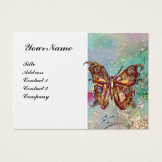 BUTTERFLY IN SPARKLES Gold Paper Business Card