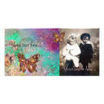 BUTTERFLY IN SPARKLES PHOTO CARD