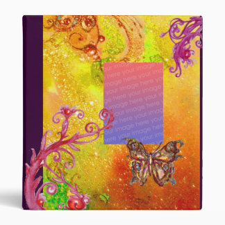 BUTTERFLY IN SPARKLES  PHOTO TEMPLATE yellow red Binder