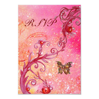 BUTTERFLY IN  SPARKLES RSVP, Elegant Wedding Party Personalized Invite